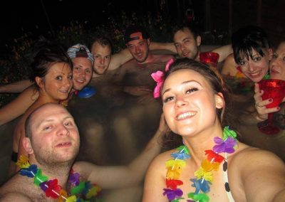 Fun in the Hot Tub by South East Hot Tubs Hire for all seasons