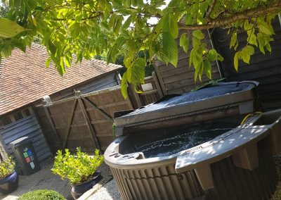 hot tub hire half covered by south east hot tubs