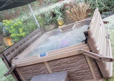outdoor covered hot tub hire by south east hot tubs