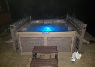 night time hot tub hire by south east hot tubs