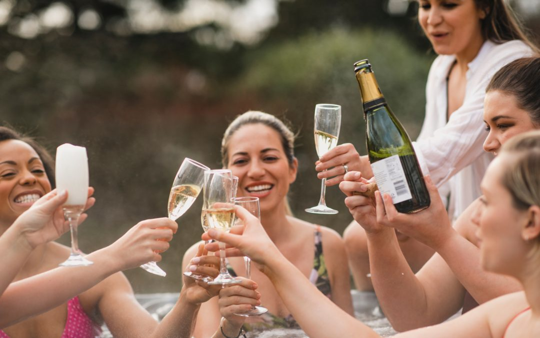 hot tub party hire and champagne - South East Hot Tubs